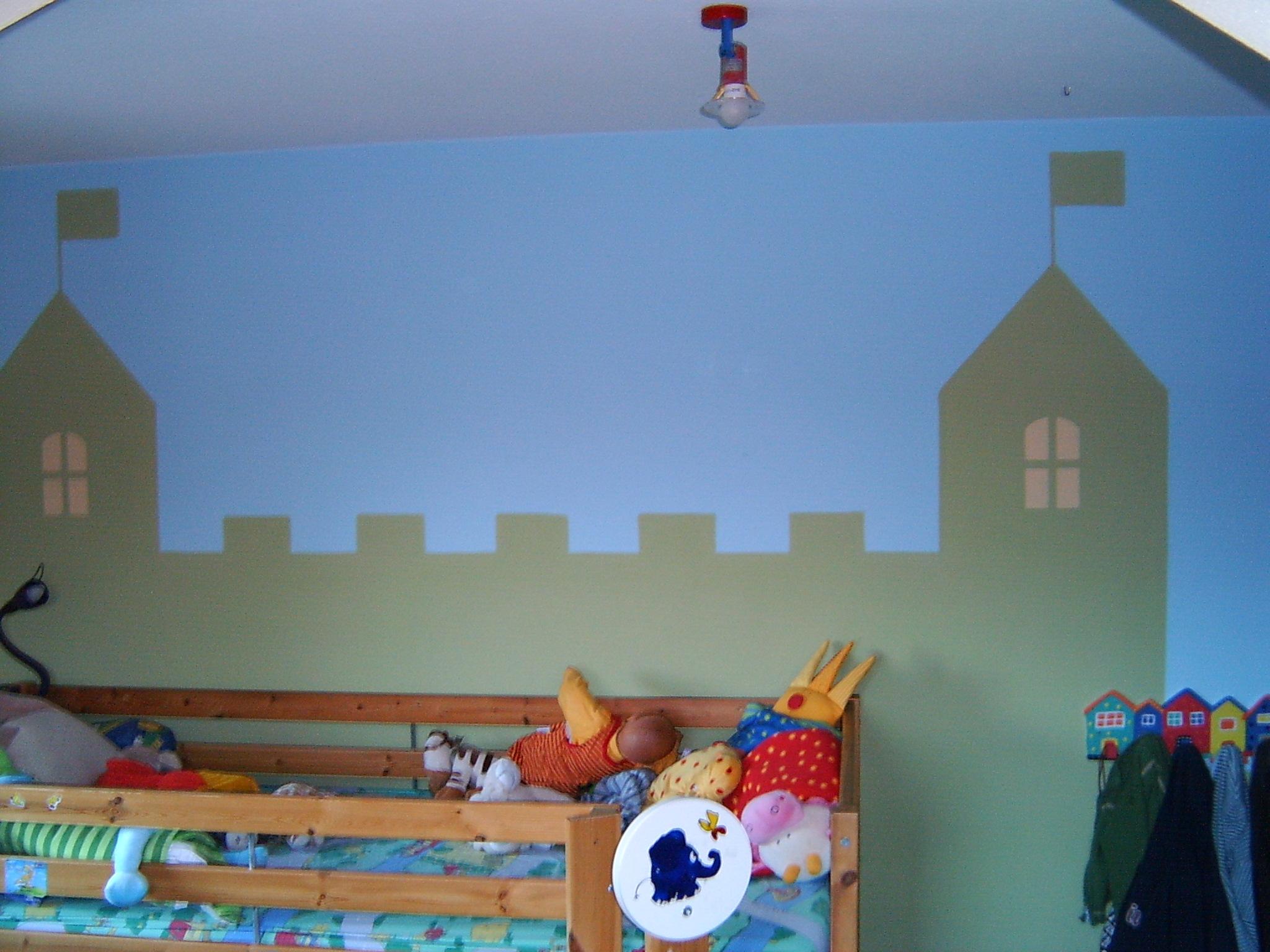 Wandgestaltung Kinderzimmer Ritterburg Ideen f?rs